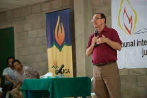 Photo of the rector of The University of Central America.